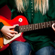 Girl with a guitar — Foto de Stock