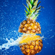 Royalty-Free Stock Photo: Pineapple splashed with water