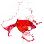 Broken a glass wine — Stock Photo