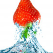 Strawberry and water - Stockfoto