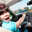 Women driving a car — Foto Stock