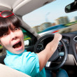 Stock Photo: Women driving car