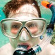 Snorkeler.  Red sea - Stock Photo