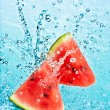 Watermelon and water - Stock Photo