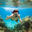 Snorkeler. Red sea — Stock Photo #3609668