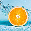 Orange and water - Stock Photo