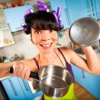 Royalty-Free Stock Photo: Crazy housewife