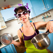 Crazy housewife — Stockfoto #3773023