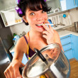 Stock Photo: Crazy housewife