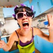 Crazy housewife — Stock Photo #3809185