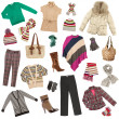 Lady's clothes. Winter warm clothes - Stock Photo