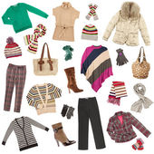 Lady's clothes. Winter warm clothes — Stock Photo