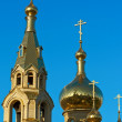 Golden church domes — Stock Photo