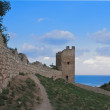 Genoese fortress in the town of Feodosia, Ukraine — Stock Photo