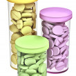 Tubes with pills — Stock Photo