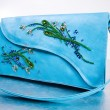 Woman's leather handbag. Hand made - Foto Stock