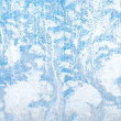 Stock Photo: Frosty natural pattern on winter glass