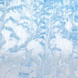 Royalty-Free Stock Photo: Frosty natural pattern on winter glass