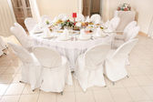 Table set for an event party or wedding reception — Foto Stock