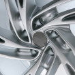 Wheel with steel rim — Stock Photo
