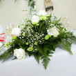 Bouquet of white roses for special occasion - Stock Photo