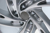 Close up wheel of a sports car — Stock Photo