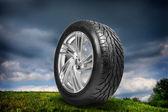 车轮用钢环 — 图库照片