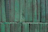 Old wooden wall of a green shade — Stock Photo