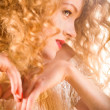 Hairstyle. Soft focus. Focus on eyes — Stock Photo #4708000