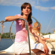 Stock Photo: Girl on a yacht