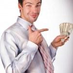 Man holding money — Stock Photo #4708693