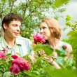Young love Couple smiling under blue sky — Stock Photo #4708920