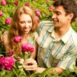 Portrait Young love Couple smiling — Stock Photo #4708924
