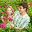 Young love Couple smiling under blue sky — Stock Photo #4708927