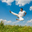 Happy young man - jumping — Stock Photo
