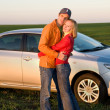Couple with their new car — Stock Photo #4709564