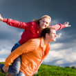 Portrait Young love Couple smiling — Stock Photo #4709706