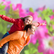 Young love Couple smiling under blue sky — Stock Photo #4709708