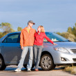 Happy young couple with their new car. — Stock Photo #4709710