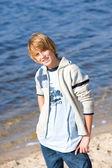 Happy boy on the beach — Stock Photo