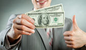 Businessman with money — Foto Stock