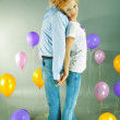 Young love Couple smiling with balloons — Stock Photo #4710410