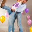 Young love Couple smiling with balloons — Stock Photo #4710413