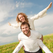 Young love Happy smiling couple — Stock Photo