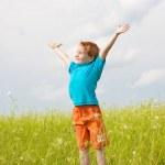 Happy boy the field — Stock Photo #4711103