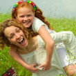 Mom and Daughter Having Fun — Stock Photo #4711172