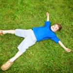 Happy boy the field — Stock Photo #4711420
