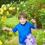 Happy boy the field — Stock Photo #4711424