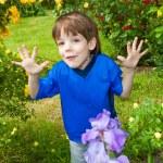 Happy boy the field — Stock Photo #4711426