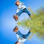 Happy jumping boy — Stock Photo #4711530